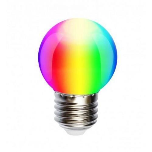 LED žárovka 1W 4xSMD5050 E27 20lm RGB