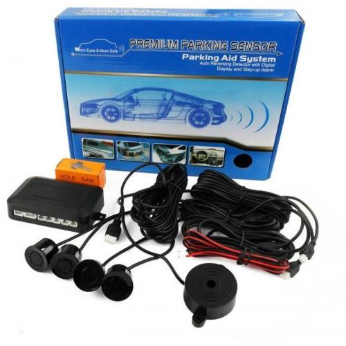 Parkovací systém 4 senzorový - akustická signalizace,  Ø22mm ČERNÝ