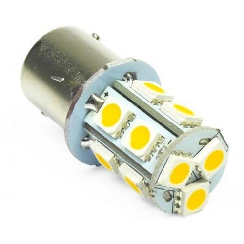 LED auto žárovka 12V LED BA15S 13XSMD5050 2,6W TEPLÁ