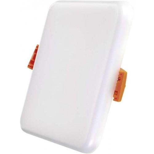 LED panel 8W, 100×100, vestavný čtvercový,  neutrální bílá,  IP65