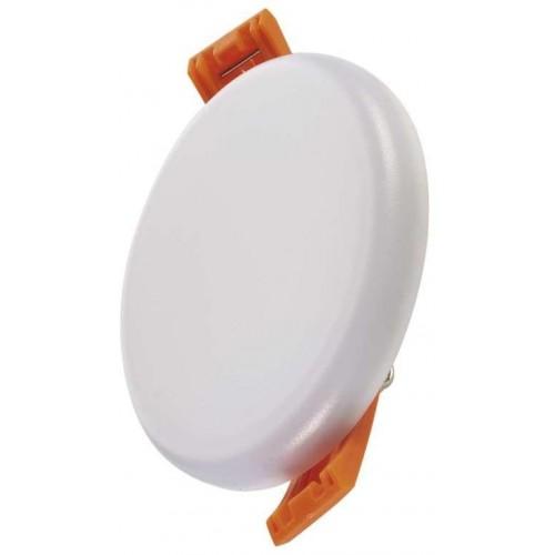 LED panel 6W, 75mm, kruhový vestavný, teplá bílá, IP65