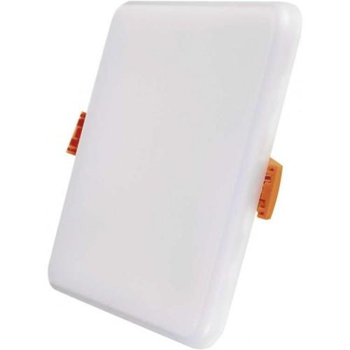 LED panel 11W, 125×125, vestavný čtvercový, teplá bílá, IP65