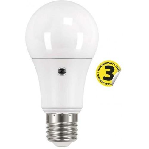 LED žárovka E27 9W Classic A60 foto senzor teplá bílá