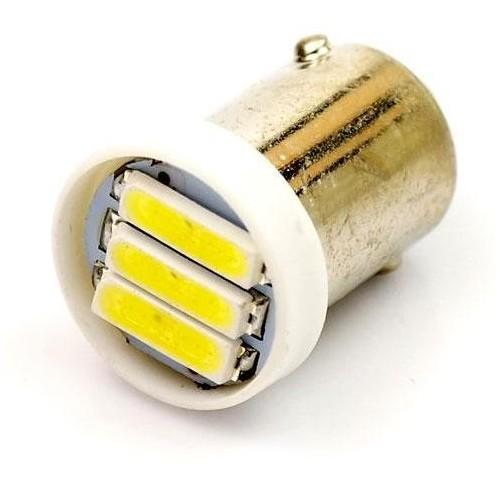 LED auto žárovka LED BA9S 3 SMD 7014 H6W