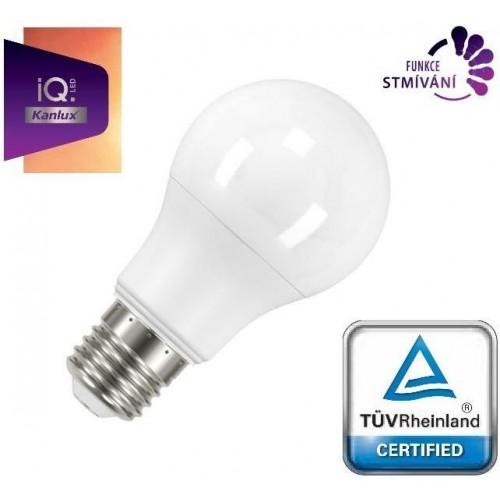 LED žárovka IQ-LED Kanlux 27287 E27 STMÍVATELNÁ A60 8,5W 880lm STUDENÁ