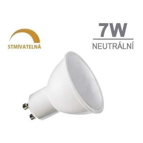 LED žárovka DIMMSTAR 7W 7xSMD2835 GU10 510lm neutrální bílá STMÍVATELNÁ