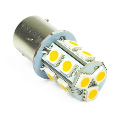 LED auto žárovka 12V LED BAU15S 13XSMD5050 2,6W TEPLÁ
