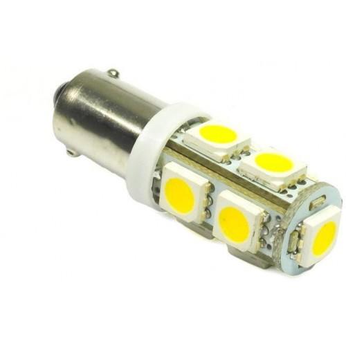 LED auto žárovka 12V LED BA9S 9SMD5050 H6W 2W teplá