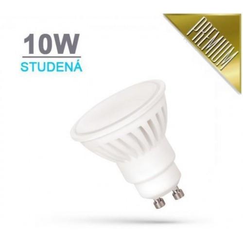 LED žárovka PREMIUM 10W 18xSMD2835 GU10 930lm STUDENÁ BÍLÁ
