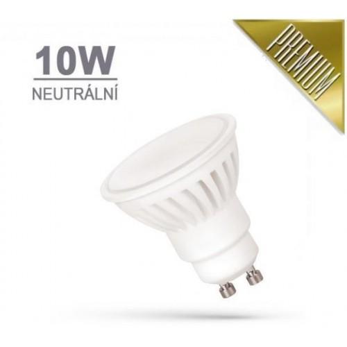 LED žárovka PREMIUM 10W 18xSMD2835 GU10 910lm NEUTRÁLNÍ BÍLÁ