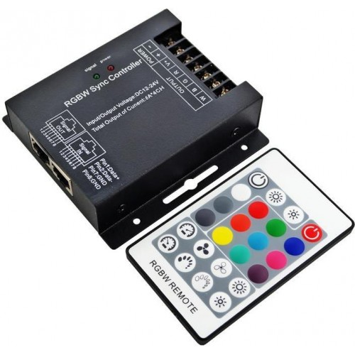 Kontroler led RGBW RF 24A 288W 12-24V dotykový 2,4ghz Wireless .