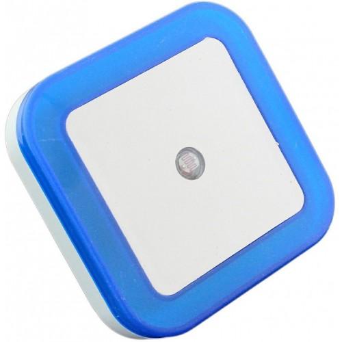 ZD19B Noční světlo se soumrakovým čidlem do zásuvky 230V, 4xLED, modré