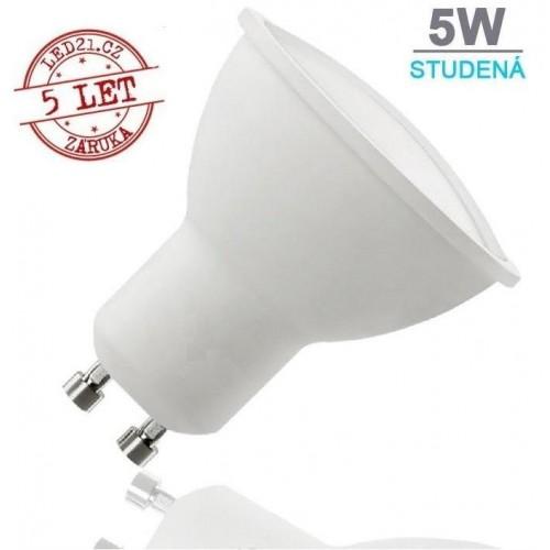 LED žárovka 5W 9xSMD2835 GU10 320lm STUDENÁ BÍLÁ