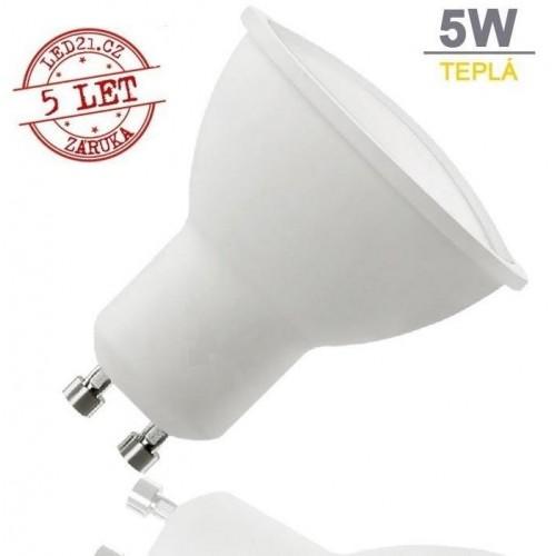 LED žárovka 5W 9xSMD2835 GU10 320lm TEPLÁ BÍLÁ