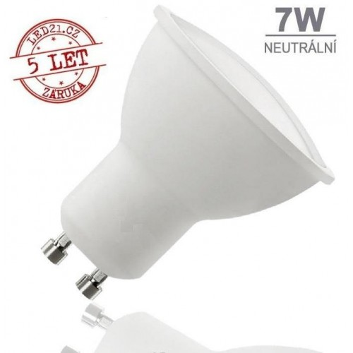 LED žárovka 7W 12xSMD2835 GU10 500lm NEUTRÁLNÍ BÍLÁ