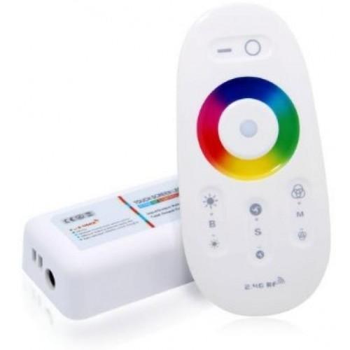 Kontroler led RGBW RF 24A 288W 12V-24V dotykový bílý 2,4ghz Wireless .