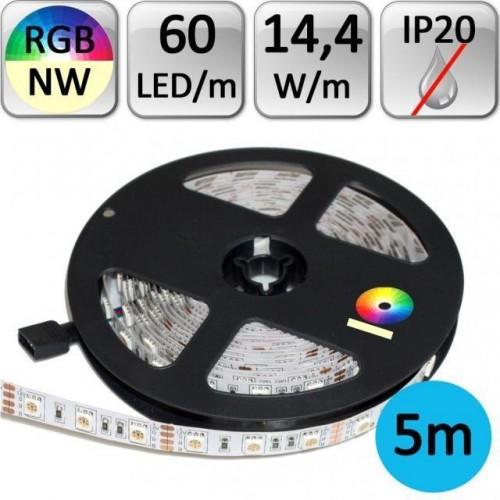 LED pásek 5m RGB+NW neutrální bílá 14,4W/m 60LED/m 5050