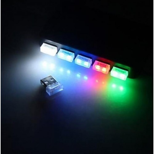 USB LED Atmosphere Light 5V světlo 1 SMD, MODRÁ