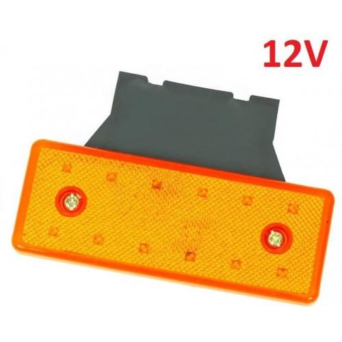 LED světlo obrysové boční, oranžové, 12V