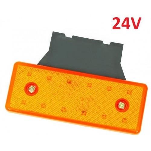 LED světlo obrysové boční, oranžové, 24V