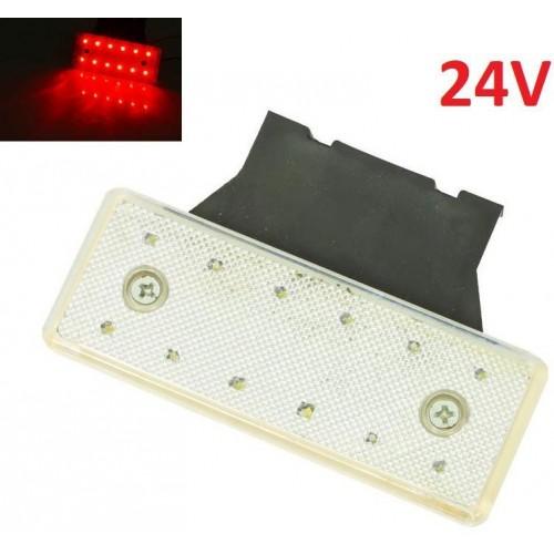 LED světlo obrysové boční, červené, 24V