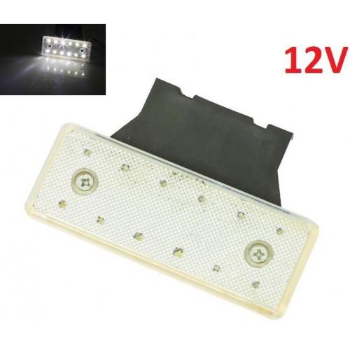 LED světlo obrysové boční, bílé, 12V