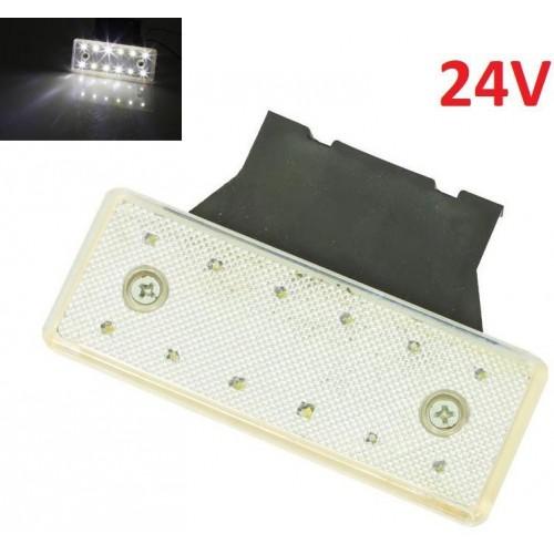 LED světlo obrysové boční, bílé, 24V