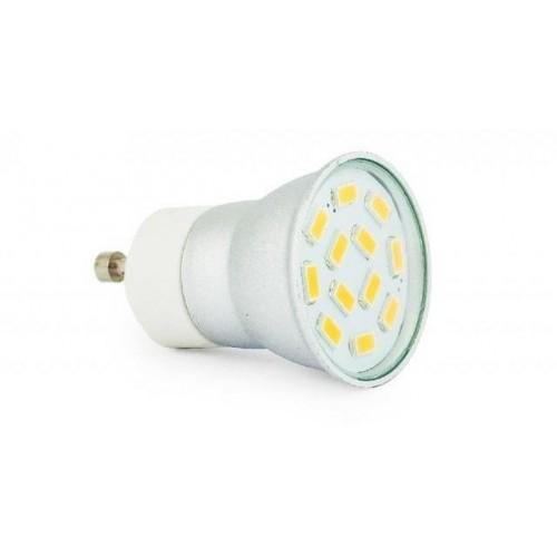 LED žárovka 3W 12xSMD5630 GU11 300lm 230V TEPLÁ BÍLÁ