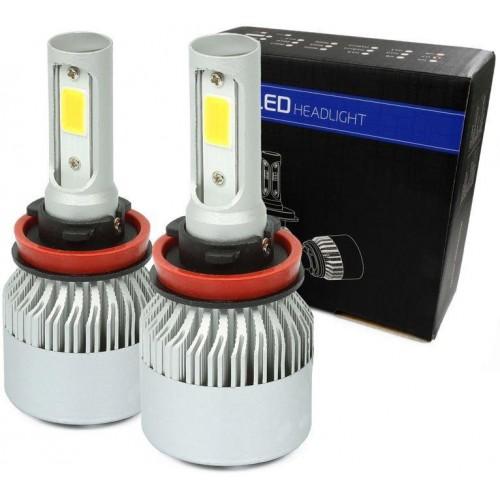 LED auto žárovka H11 S2 COB 36W s aktivním chladičem 16000lm