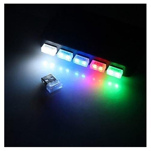 USB LED Atmosphere Light 5V světlo 1 SMD, ZELENÁ