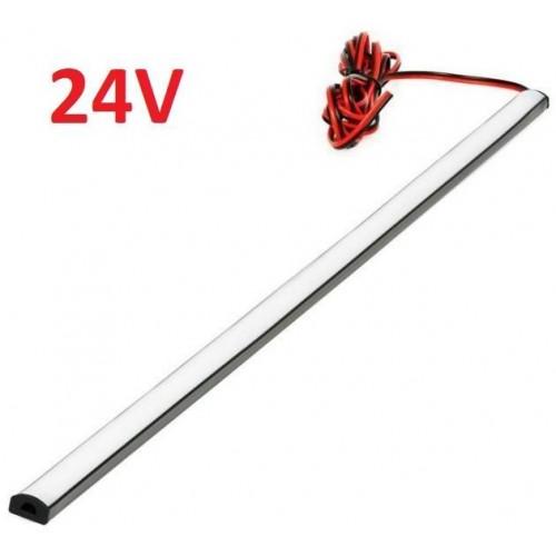 SADA 24V TIR elastický gumový profil s LED páskem SMD2835 Studená bílá, 100cm
