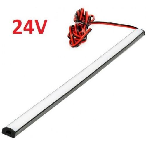 SADA 24V TIR elastický gumový profil s LED páskem SMD2835 Studená bílá, 50cm