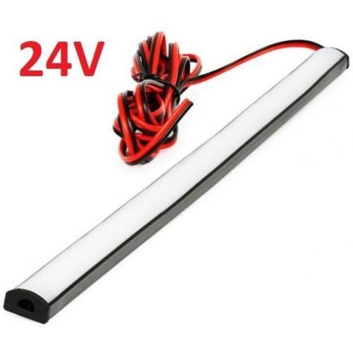 SADA 24V TIR elastický gumový profil s LED páskem SMD2835 Studená bílá, 25cm