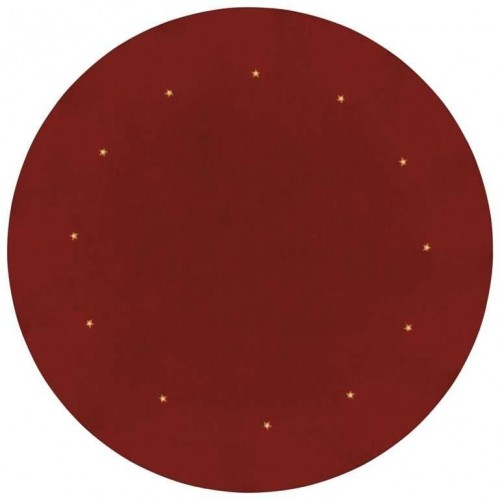 LED podložka pod vánoční strom, červená, 1m, časovač