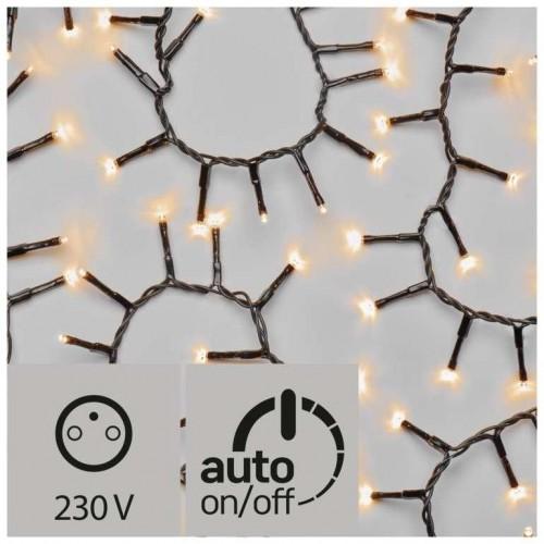 LED vánoční řetěz – ježek, venkovní, 4m, jantarová, časovač