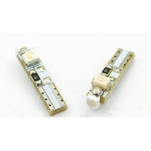 LED auto žárovka LED W2W W1,2W T5 R5 3 SMD 1210 studená bílá