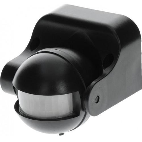 Pohybové čidlo PIR pro spínání světel, vnitřní/venkovní , černé