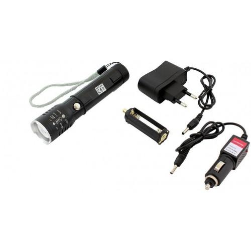 ZD36A CREE LED ZOOM Svítilna s nabíječkou, černá