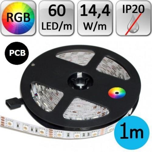 LED pásek 1m RGB 3535 černé PCB 14,4W/m 60LED/m IP20
