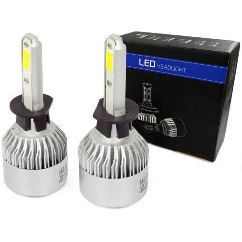 LED auto žárovka H1 S2 COB 36W s aktivním chladičem 16000lm