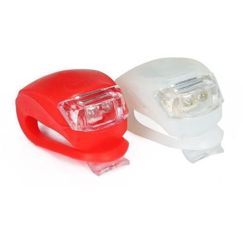 LED přední + zadní svítilna na kolo na 2× CR2032,10 lm