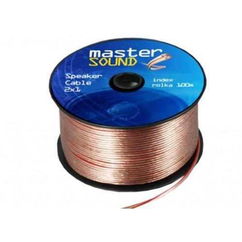 Kabel dvoulinka 0,75mm2 pro napojení LED pásků, Zlato-červená