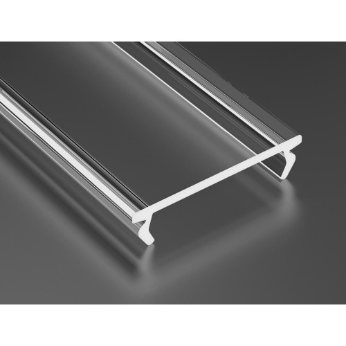 Transparentní difuzor DOUBLE pro profily LUMINES 1m