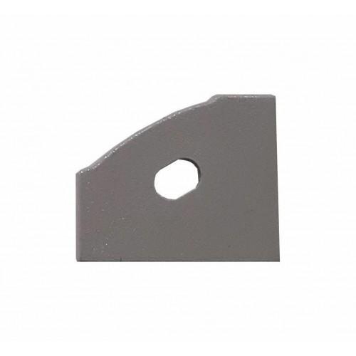 Krytka koncová pro profil MiniLUX 30/60°, LEVÁ,  šedá