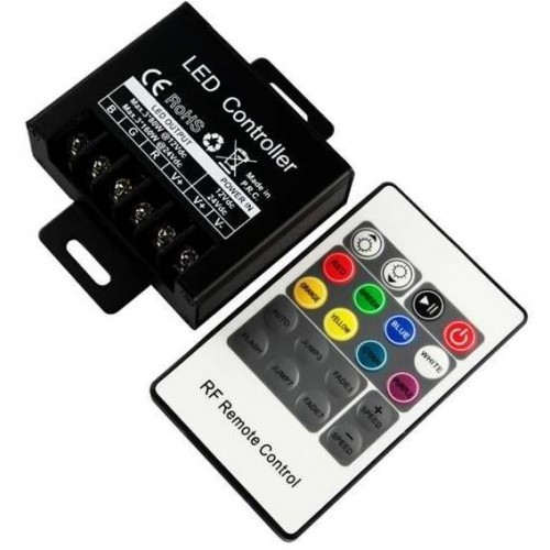 RGB kontroler RF pro LED pásky 240W 20A, ovladač 20 tlačítek