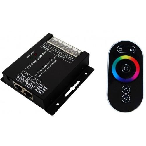 RGB kontroler pro LED pásky 12/24VDC 288W, dotykové dálkové RF ovládání