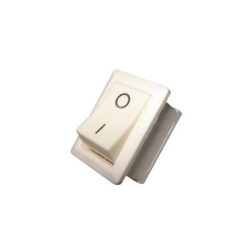 Zápustný vypínač obdélníkový - bílý