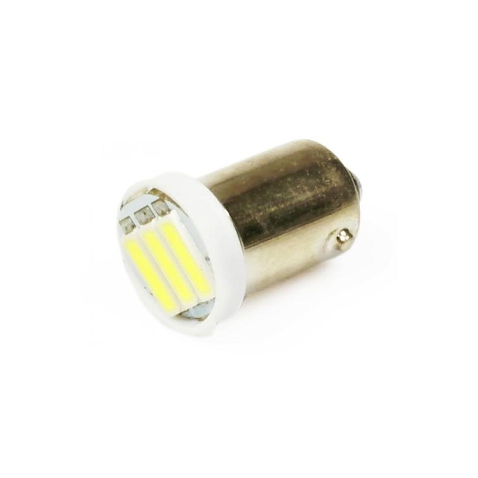 LED auto žárovka 12V LED BA9S H6W 3SMD7014 1W