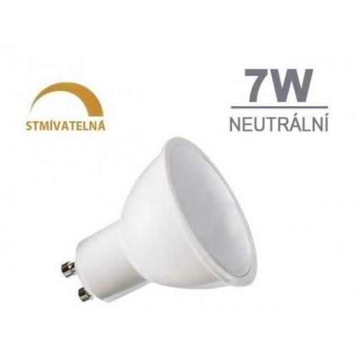 LED žárovka 7W 8xSMD2835 GU10 500lm neutrální bílá STMÍVATELNÁ