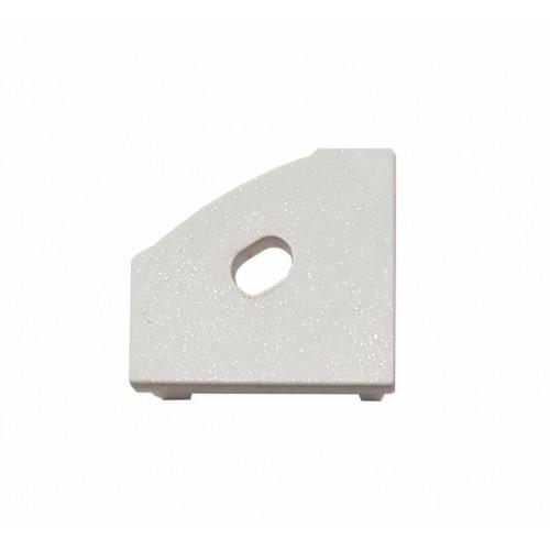 Krytka koncová plastová LEVÁ pro profil MiniLUX 30/60°, bílá